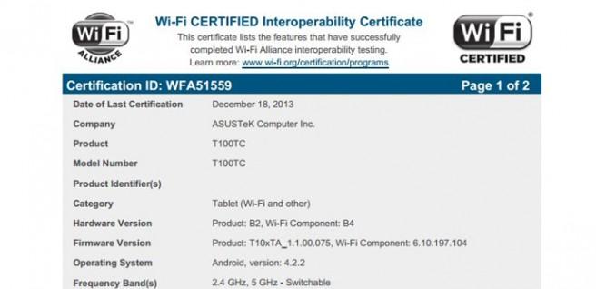 ASUS T100TC WiFi