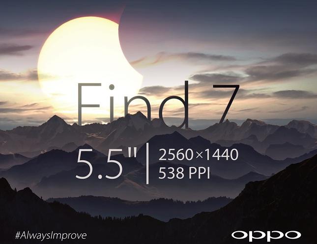 Oppo Find 7 pantalla 2K