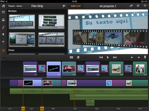 Los mejores editores de vídeo para iPad