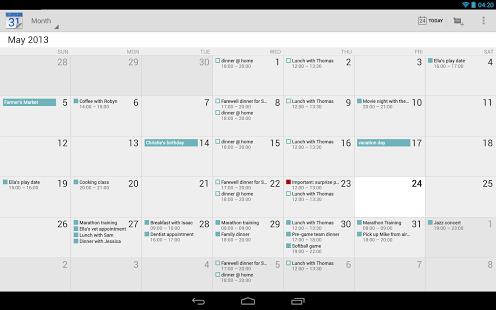 Google Calendar tablet