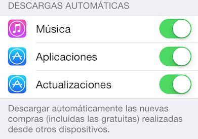 actualizaciones de aplicaciones en iPad iOS 7