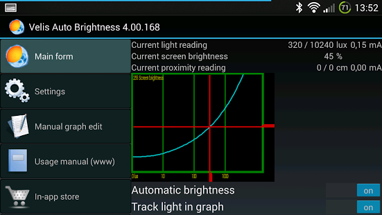 velis auto brightness