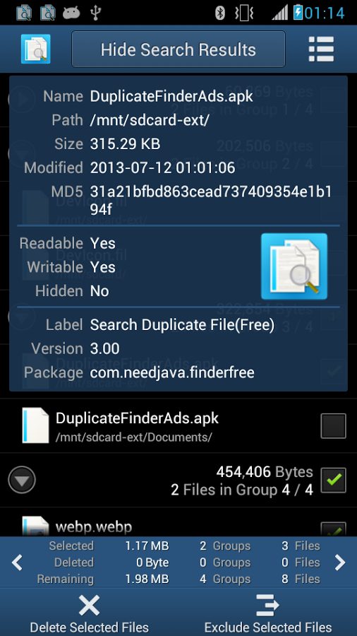search duplicate