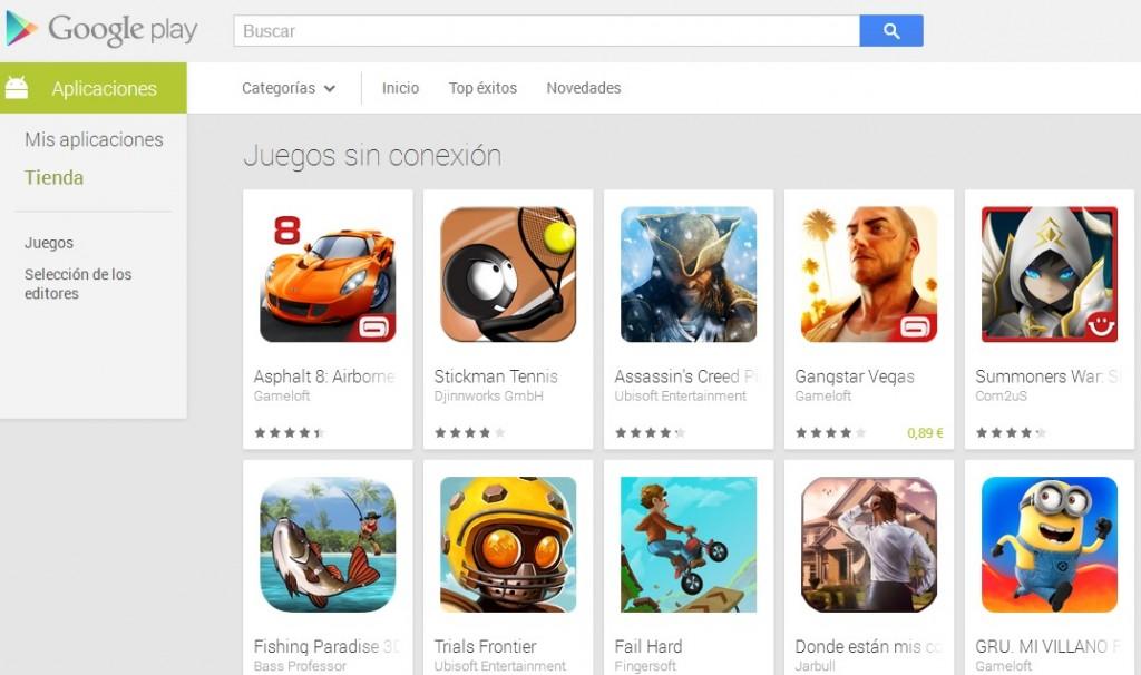 Juegos-offline-android