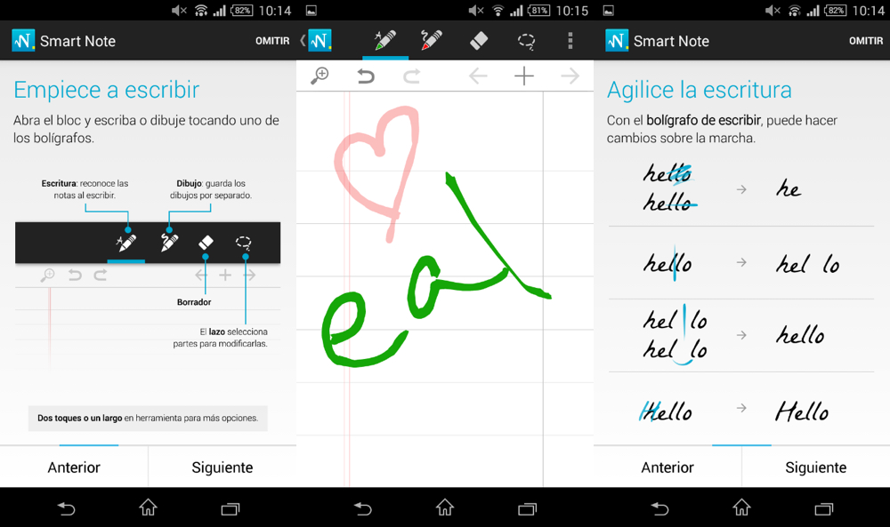 myscript smart note tablet android