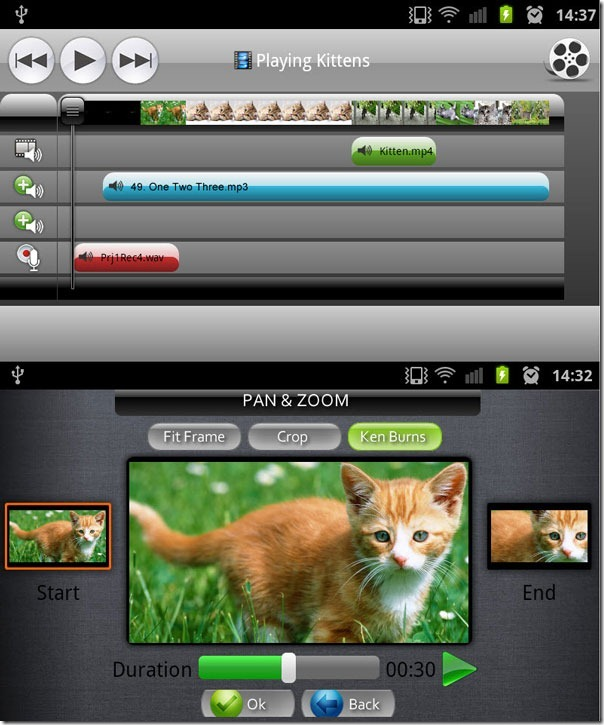 andromedia editar vídeos en Android