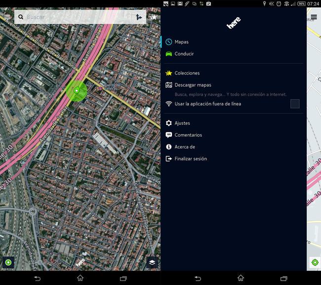 here maps android nokia